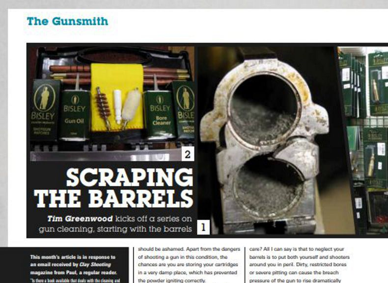Clay Shooting Magazine January 2014 Scraping the Barrels