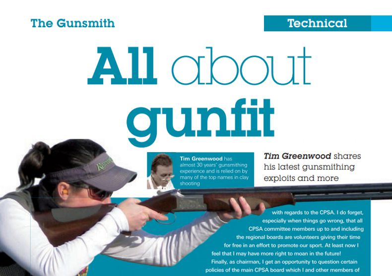 Clay Shooting Magazine June 2012 All about gunfit