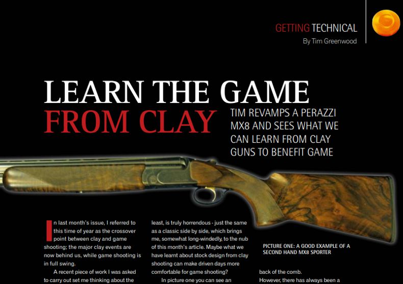 Clay Shooting Magazine November 2010 Learn the game from clay