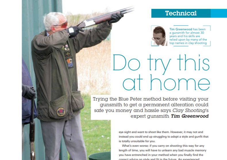 Clay Shooting Magazine October 2011 Do try this at home