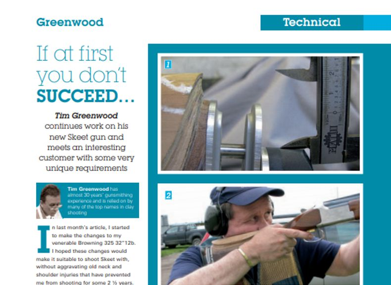 Clay Shooting Magazine Summer 2012 If at first you don't succeed