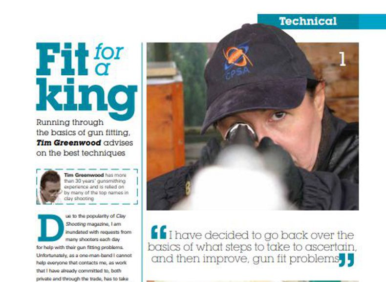 Clay Shooting Magazine September 2013 Fit for a King