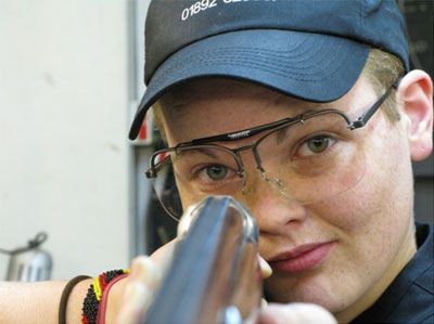 Flo Laura Redwood of Greenwood Gunsmiths Tern Hill, Shropshire, UK